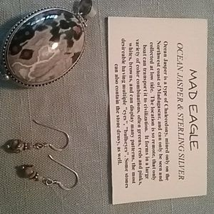 Ocean Jasper Locket and Ear rings